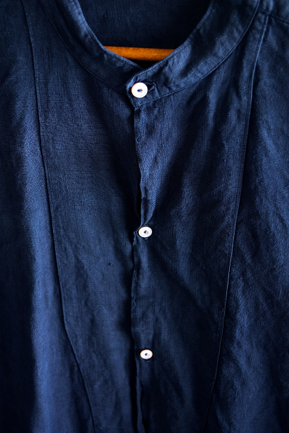 Vintage & antique linen Grand-pa shirts over dyed by indigo color _f0226051_1585623.jpg