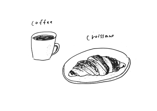 coffee & croissant_c0154575_1551911.jpg
