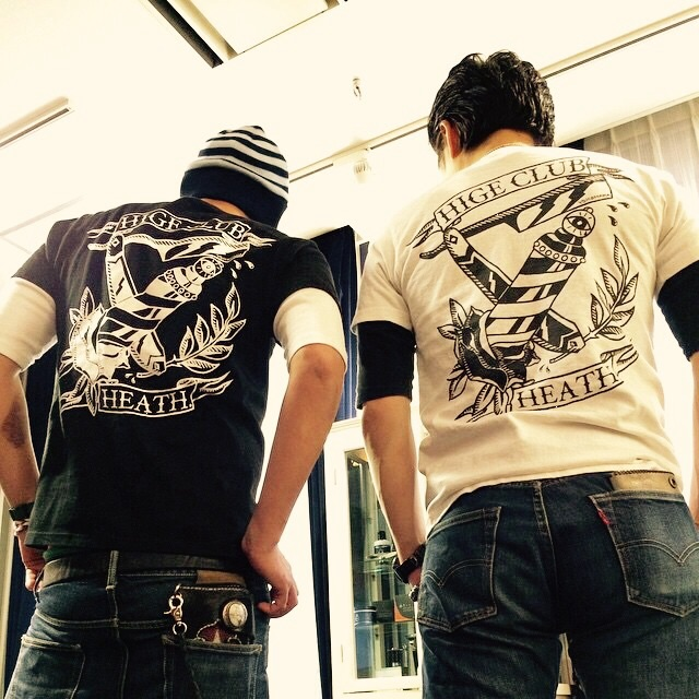 HEATH × ヒゲ倶楽部 Tシャツ 発売中_e0100332_0193235.jpg