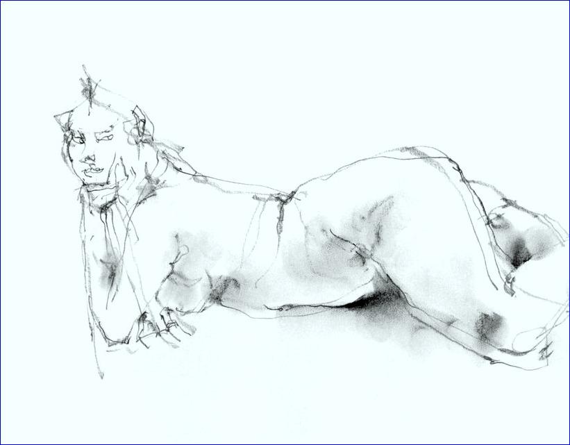 《 (菜の花十夜  4 )・・・esquisse裸婦線描鉛筆 》_f0159856_19253627.jpg