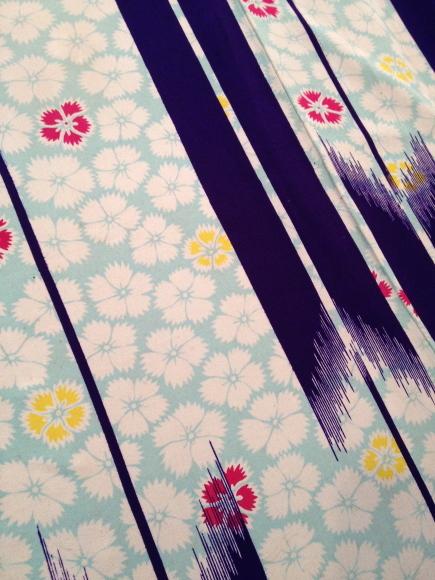明日より!「横浜・上大岡・今昔きもの市」はんなりポップ♪水色撫子着物 販売商品14_c0321302_21245777.jpg