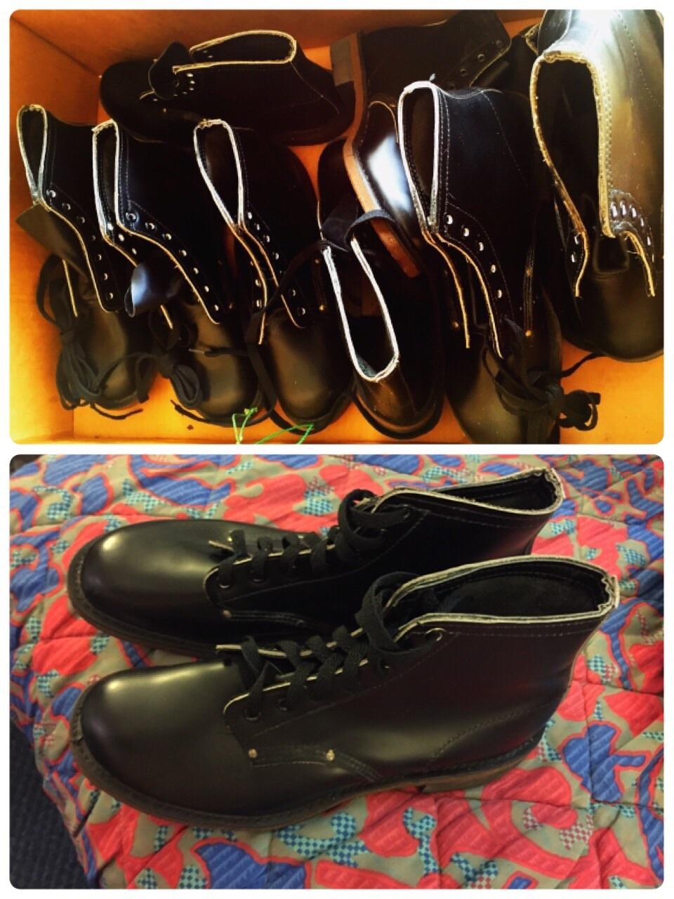 アメリカ仕入れ情報#45 デッドストック60-70\'s work boots  コルクソール出ました!_c0144020_12233698.jpg
