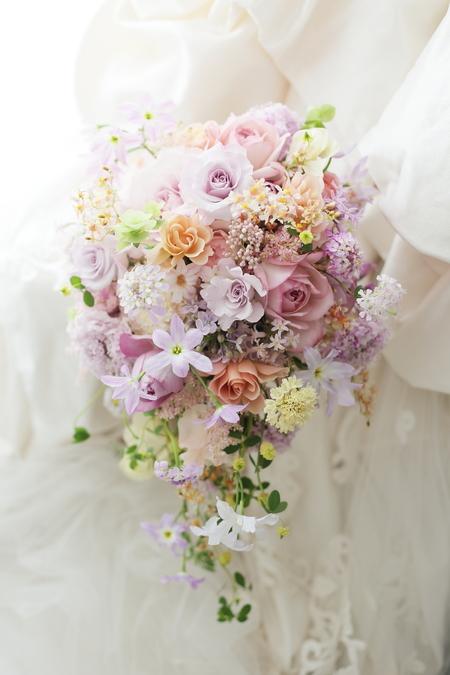 春のブーケ リストランテASO様へ 紫雲と桜雨_a0042928_22582350.jpg