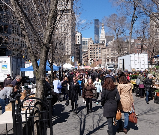 春がやってきたニューヨークの青空市場、Green Market_b0007805_2216635.jpg
