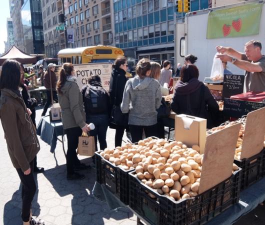 春がやってきたニューヨークの青空市場、Green Market_b0007805_22351475.jpg