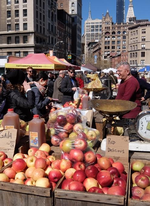春がやってきたニューヨークの青空市場、Green Market_b0007805_2236292.jpg