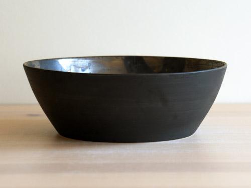 中尾雅昭さんの黒×ブラウンのうつわ。_a0026127_18441671.jpg
