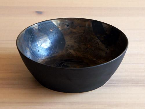 中尾雅昭さんの黒×ブラウンのうつわ。_a0026127_18442479.jpg