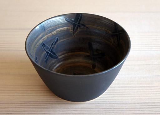 中尾雅昭さんの黒×ブラウンのうつわ。_a0026127_1847773.jpg