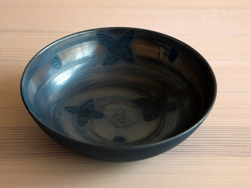 中尾雅昭さんの黒×ブラウンのうつわ。_a0026127_18502333.jpg