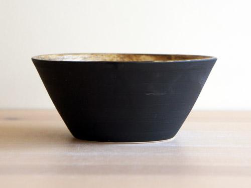 中尾雅昭さんの黒×ブラウンのうつわ。_a0026127_1859751.jpg