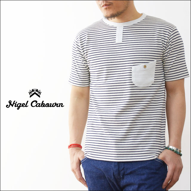 nigel cabourn [ナイジェル ケーボン] BASIC MARINE T-SHITS BORDER [8090021000] MEN\'S_f0051306_1954244.jpg