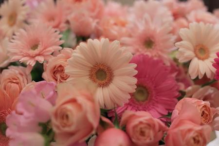 春の装花 ガーベラ シェ松尾青山サロン様へ と母の日休止のお知らせ_a0042928_2241775.jpg