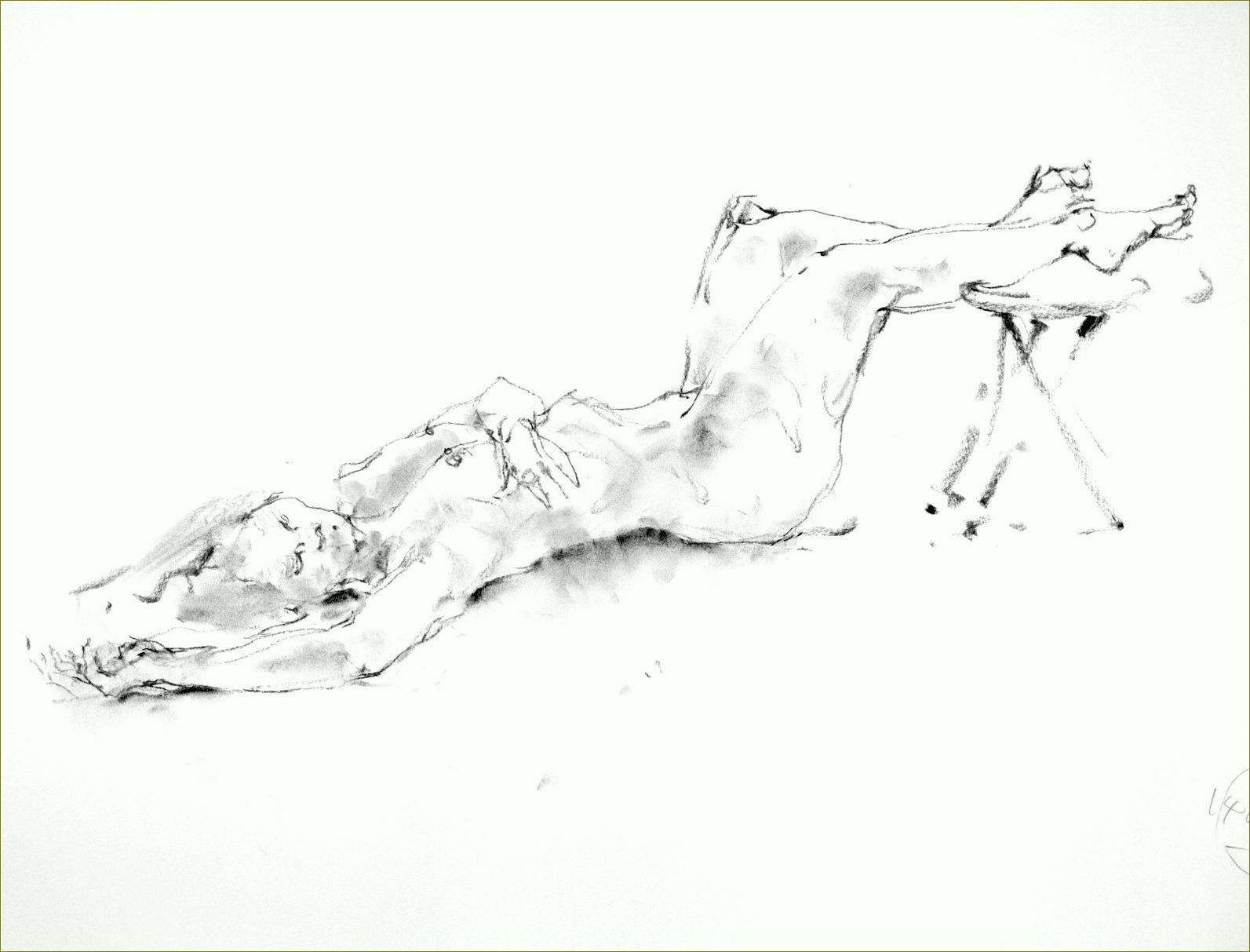 《 (菜の花十夜  5 )・・・esquisse裸婦木炭 》  _f0159856_1472076.jpg
