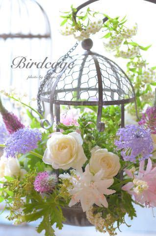 鳥かごのフラワーアレンジ_f0321522_23422584.jpg