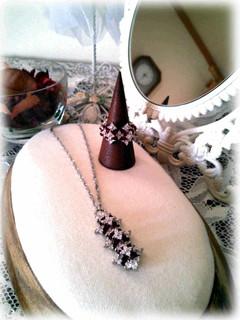 ❀Zilconia Flower Necklace & Ring❀_c0368764_18253423.jpg
