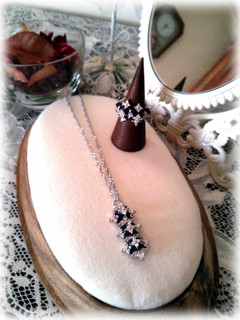 ❀Zilconia Flower Necklace & Ring❀_c0368764_18253446.jpg
