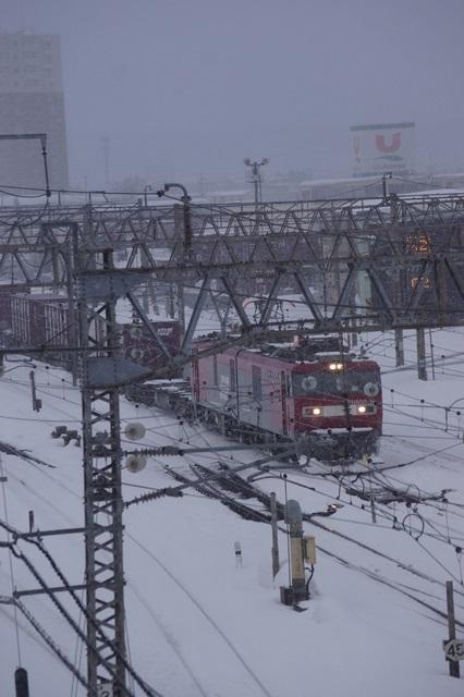 藤田八束の北国の列車を訪ねる旅:北国の列車たち、極寒風雪の中で頑張っています_d0181492_172461.jpg