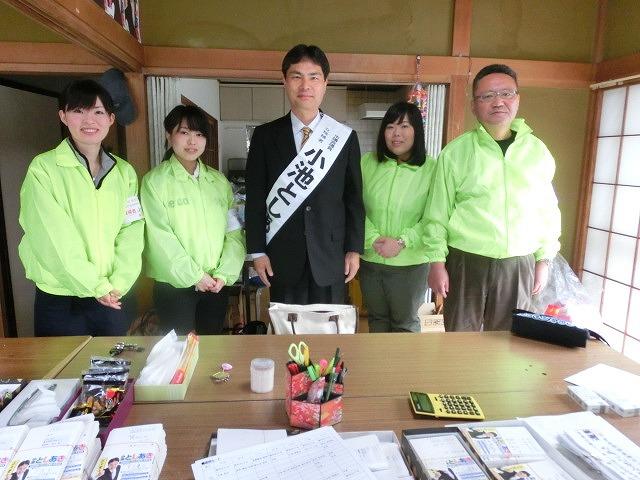選挙戦2日目は「春の大雨」  雨続きの県議選は大変だっただろうな?_f0141310_2338920.jpg