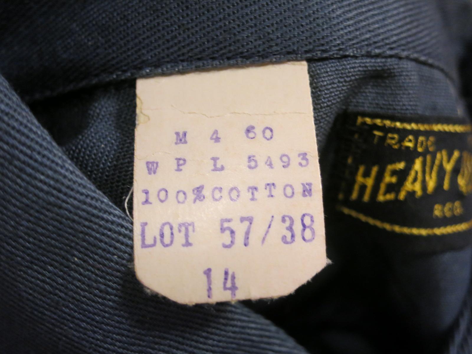 アメリカ仕入れ情報#57 デッドストック! 50\'S HEAVY DUTY cotton twill work shirts! _c0144020_13571044.jpg