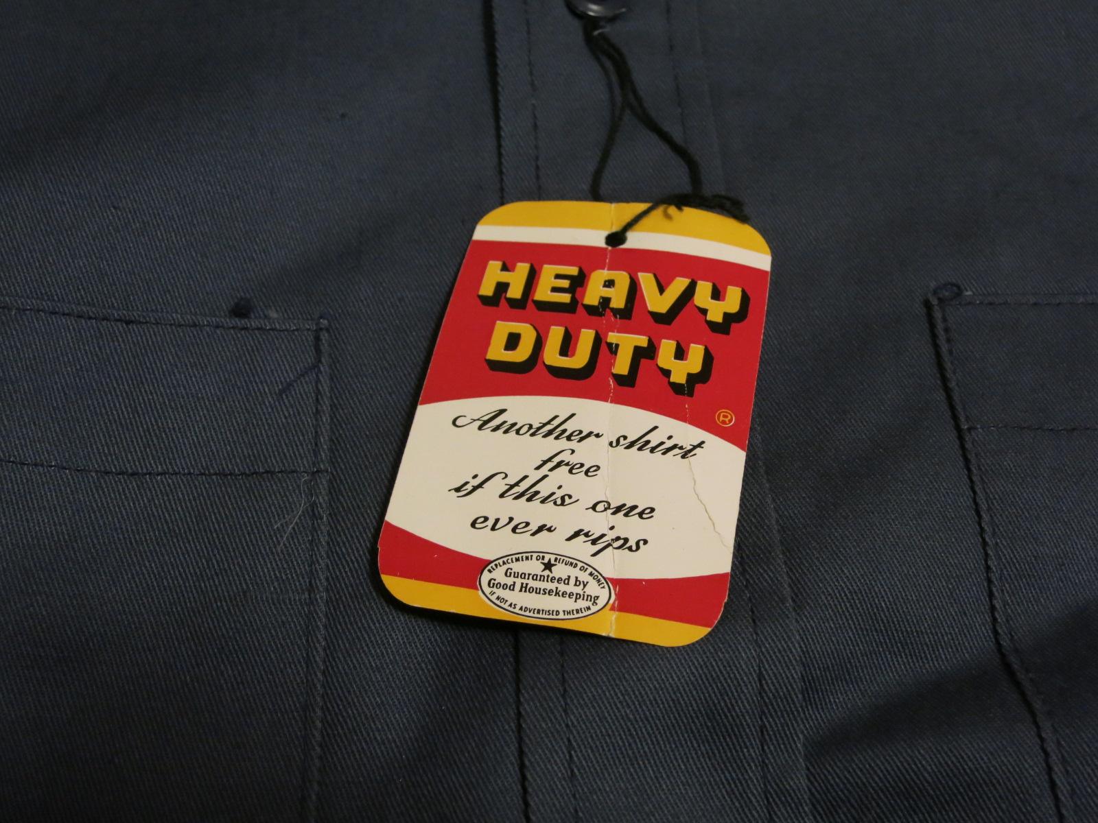 アメリカ仕入れ情報#57 デッドストック! 50\'S HEAVY DUTY cotton twill work shirts! _c0144020_135791.jpg