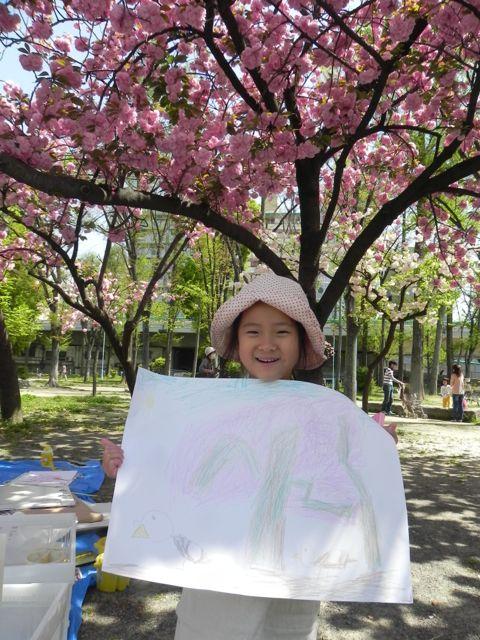 八重桜で写生会_d0076558_5472615.jpg