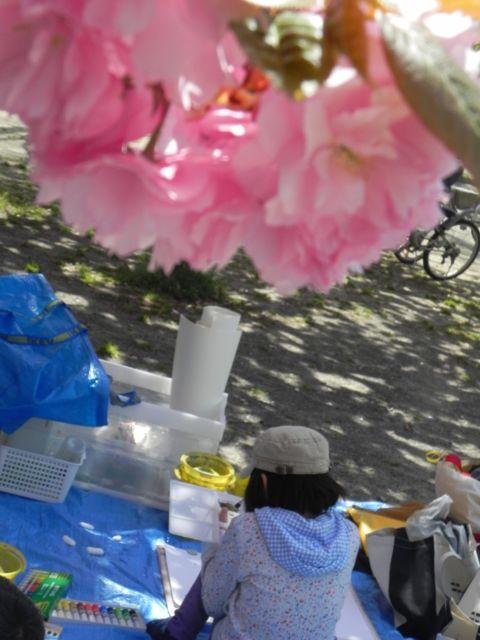 八重桜で写生会_d0076558_553118.jpg