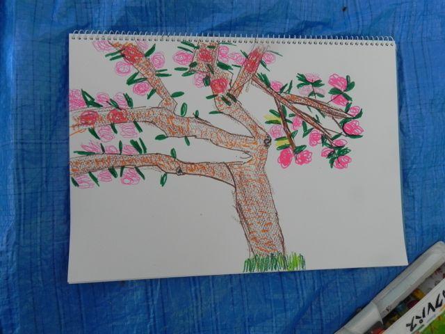 八重桜で写生会_d0076558_5552813.jpg