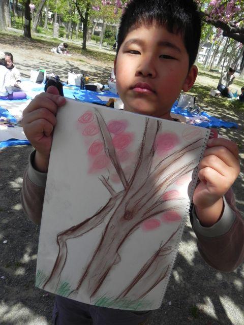 八重桜で写生会_d0076558_5591899.jpg