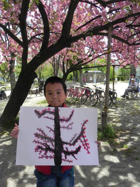 八重桜で写生会_d0076558_603265.jpg