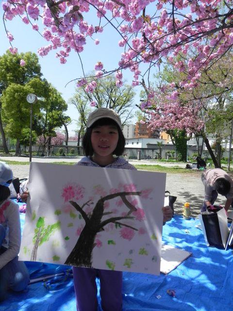 八重桜で写生会_d0076558_611161.jpg