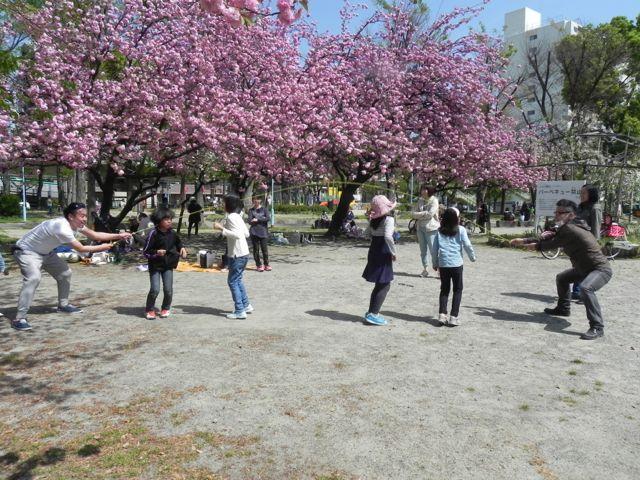 八重桜で写生会_d0076558_684415.jpg