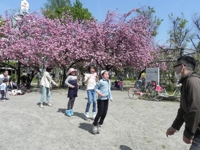 八重桜で写生会_d0076558_69370.jpg