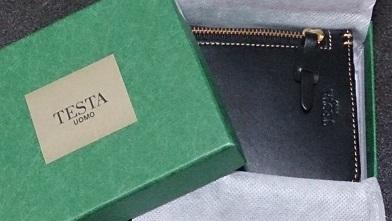誕生日プレゼントで貰った大事な財布 『テスタ』二つ折り財布_c0364960_21064158.jpg