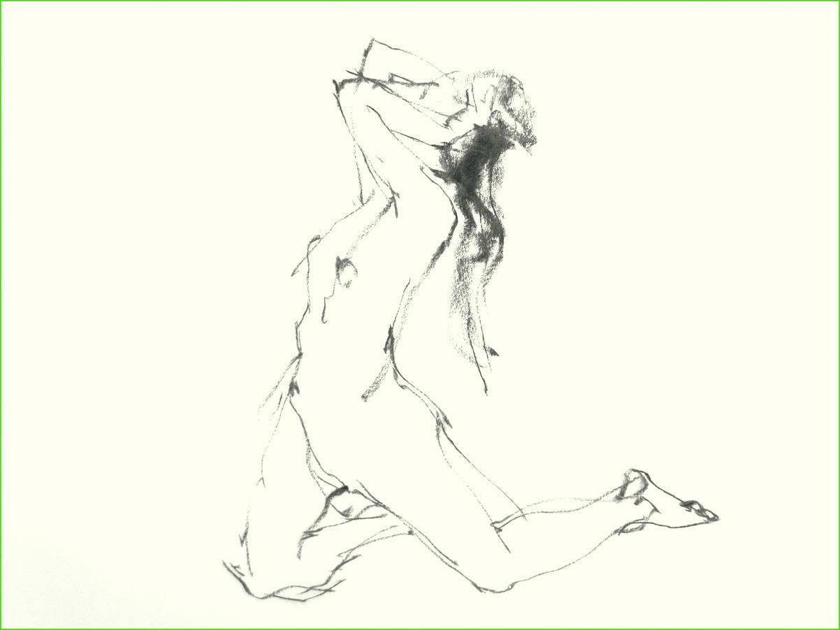 《 (菜の花十夜  6 )・・・esquisse裸婦木炭 》_f0159856_1110530.jpg