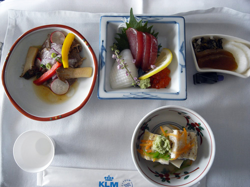 KLMオランダ航空のビジネスクラス 機内食とデルフト焼のミニチュアハウス_f0117059_15403925.jpg