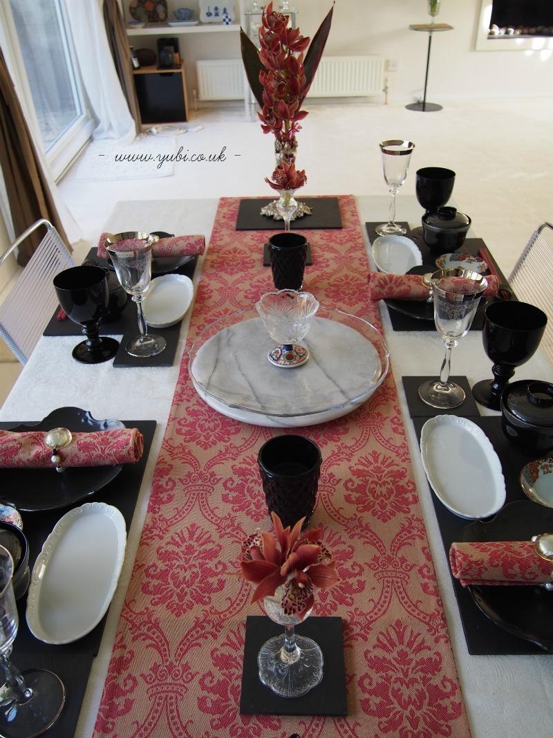 外国人へのおもてなし仕様、安土桃山テーブルコーディネート(^^)_b0313387_16030547.jpg