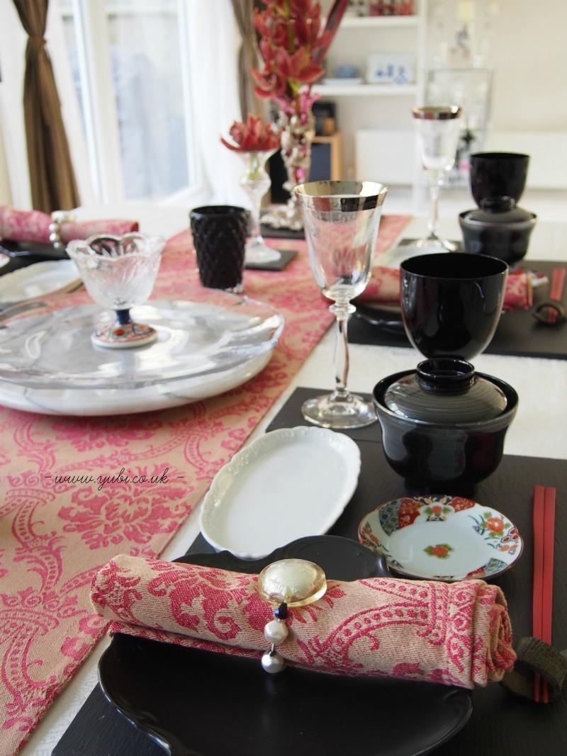 外国人へのおもてなし仕様、安土桃山テーブルコーディネート(^^)_b0313387_16142551.jpg