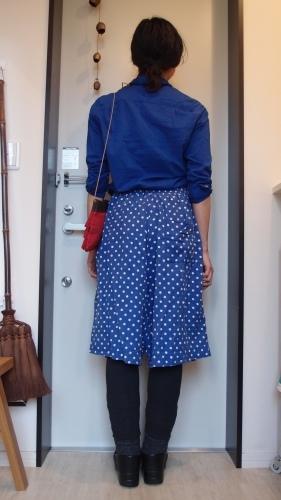 青!赤!得意色の冷え取りファッション15 4/23_c0342582_14113900.jpg