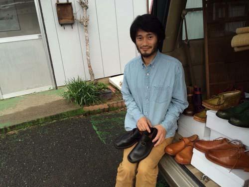「はきもの工房うえの」の上野さんがお立ち寄り下さいました。_a0251920_11143457.jpg