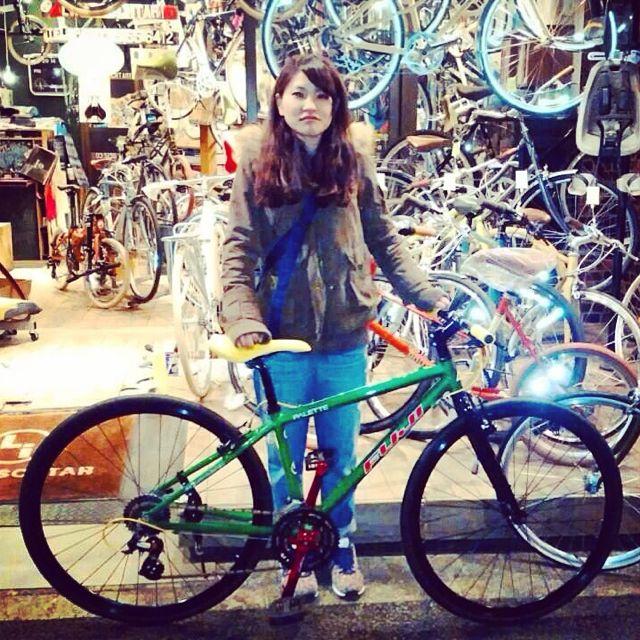 ☆今日のバイシクルガール10本立て☆ 自転車 女子 おしゃれ ミニベロ クロスバイク ロード リピトデザイン_b0212032_18451232.jpg