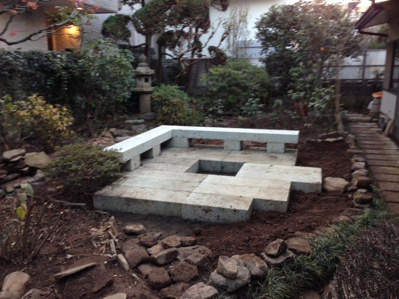 庭造り 「月見台」を造る_f0156448_14310422.jpg