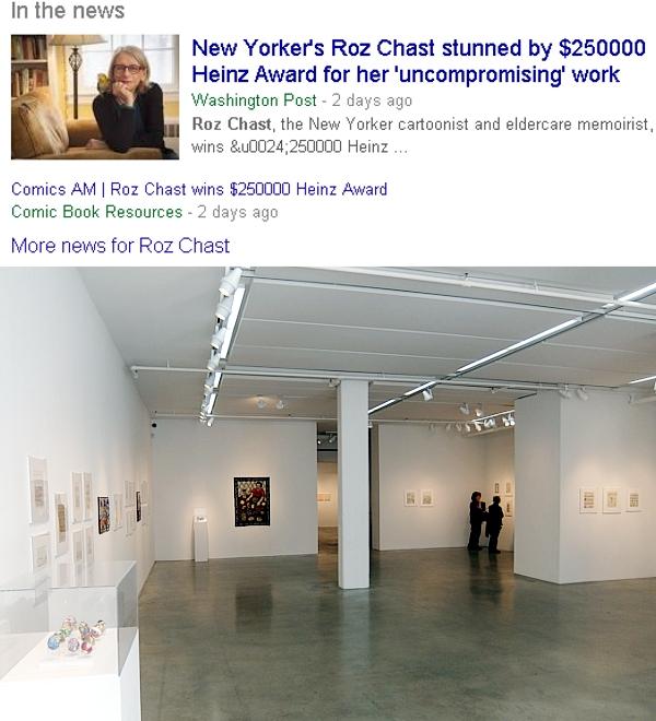 アメリカを代表する漫画家の一人、Roz Chastさんの個展 Something More Pleasant_b0007805_214969.jpg