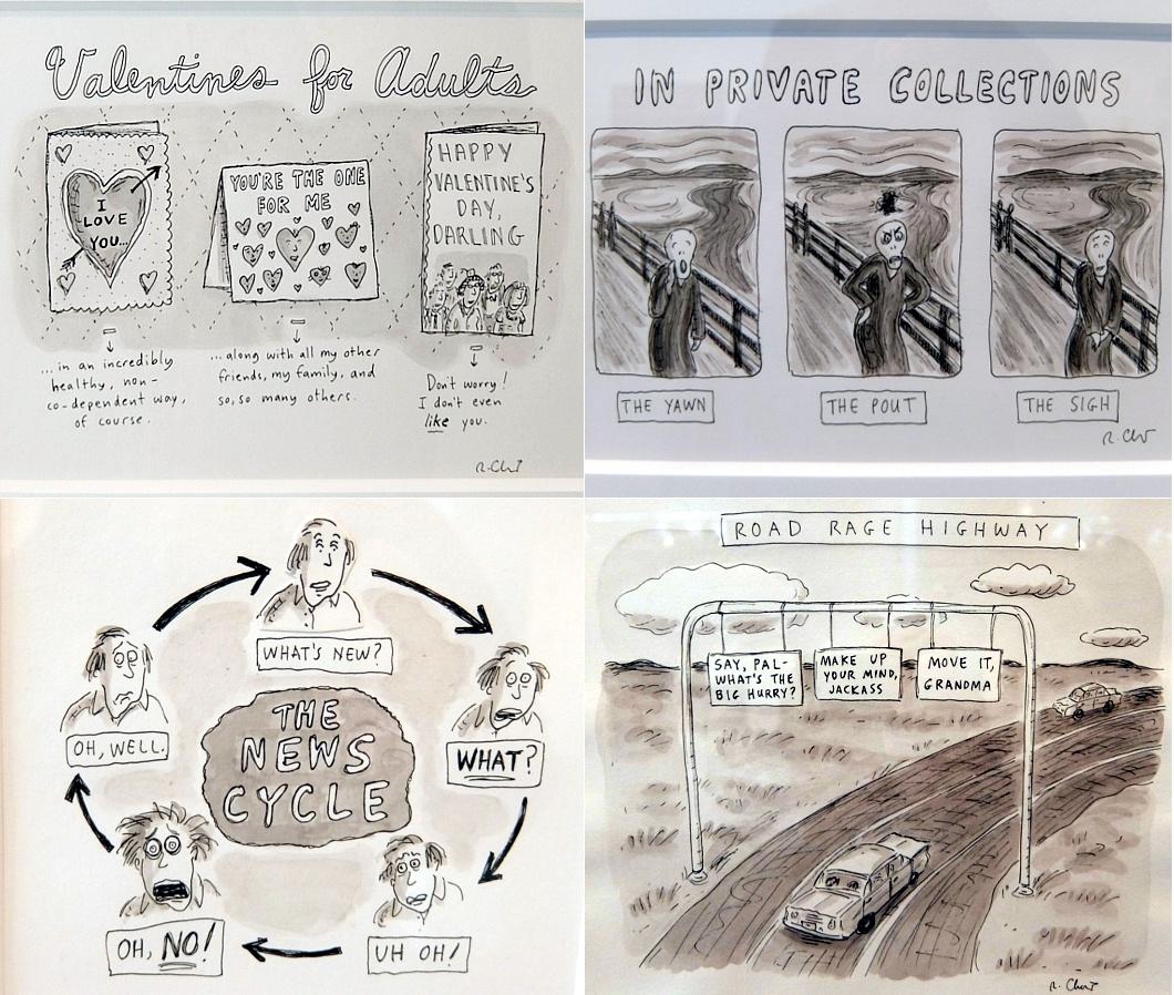 アメリカを代表する漫画家の一人、Roz Chastさんの個展 Something More Pleasant_b0007805_222157100.jpg