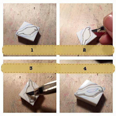 消しゴムはんこの基本を見直してみる実験。_c0154210_19371811.jpg