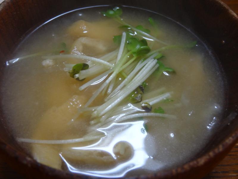 チャンポン麺、厚揚げ、鮭の西京味噌漬け、お握り、おはぎ、煮込みハンバーグ風肉団子です。_c0225997_1817119.jpg