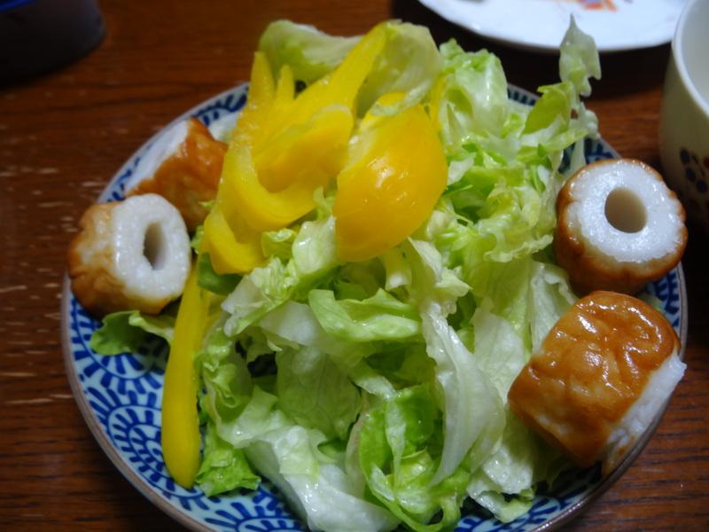 チャンポン麺、厚揚げ、鮭の西京味噌漬け、お握り、おはぎ、煮込みハンバーグ風肉団子です。_c0225997_18403725.jpg