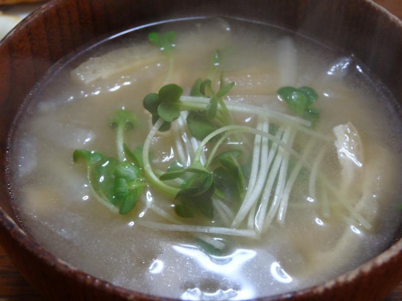 チャンポン麺、厚揚げ、鮭の西京味噌漬け、お握り、おはぎ、煮込みハンバーグ風肉団子です。_c0225997_1891572.jpg