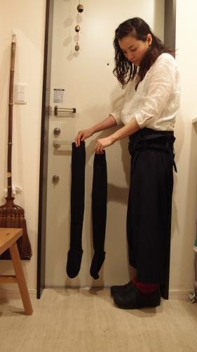 cotteさんのone day shopへ冷え取りファッション15 4/26_c0342582_23505855.jpg