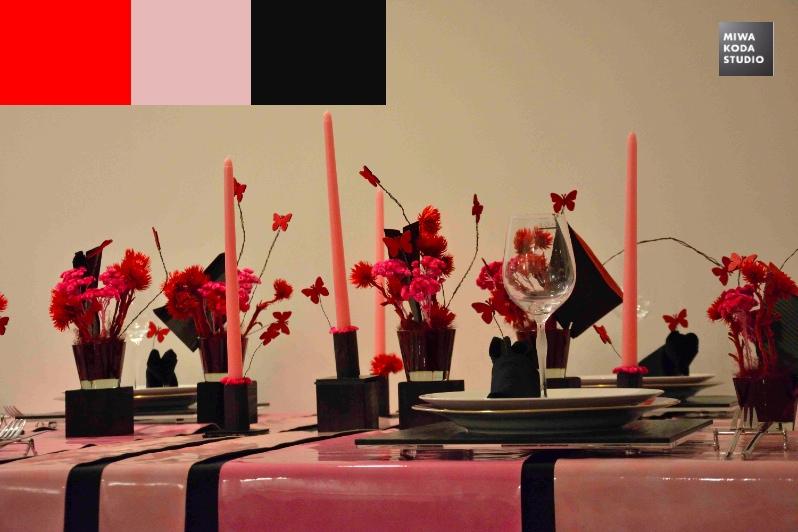 April 28, 2015プリティモダンのテーブル:ピンクと黒 Pretty Modern Table: Pink & Black_a0307186_759779.jpg
